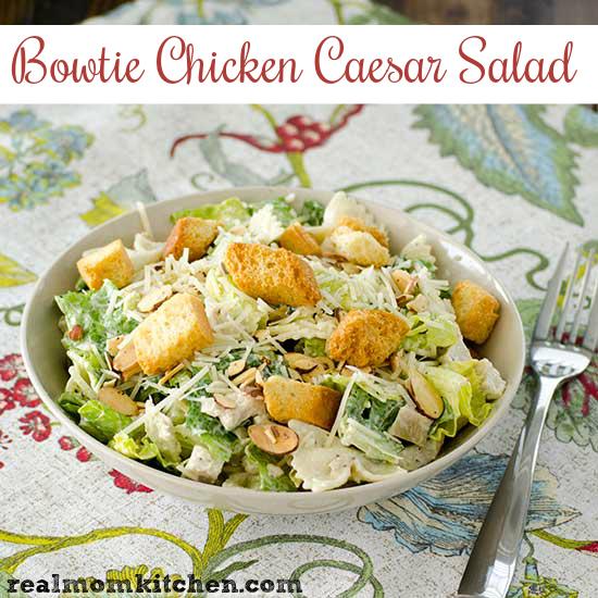 Bowtie Chicken Caesar Salad | realmomkitchen.com