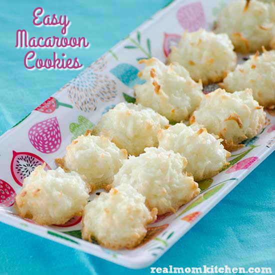 Easy Macaroon Cookies   realmomkitchen.com