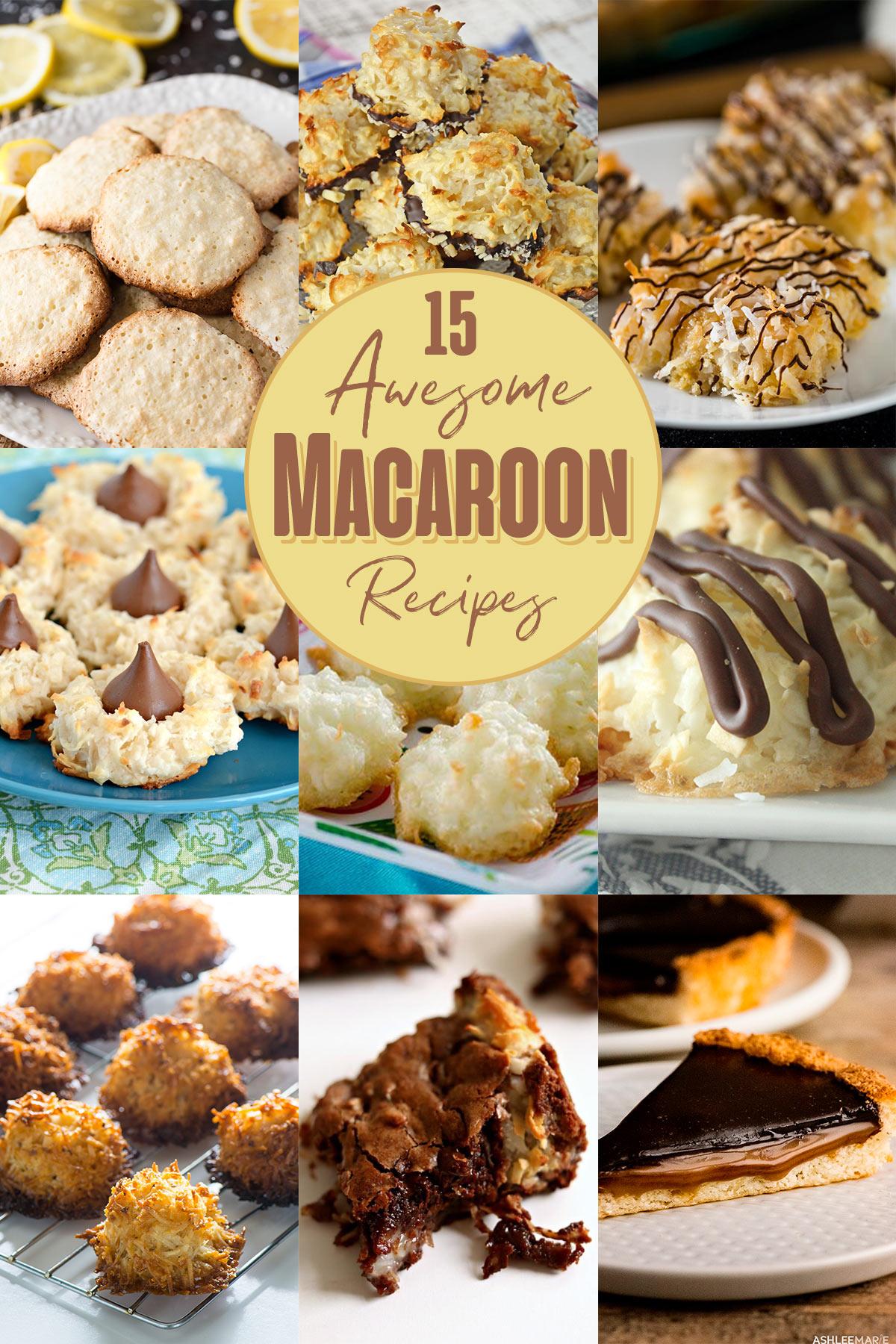 15 Awesome Macaroon Recipes | realmomkitchen.com #nationalmacaroonday