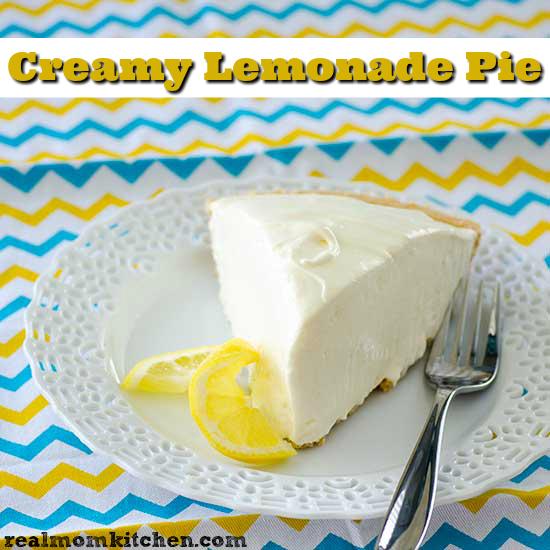 Creamy Lemonade Pie   realmomkitchen.com