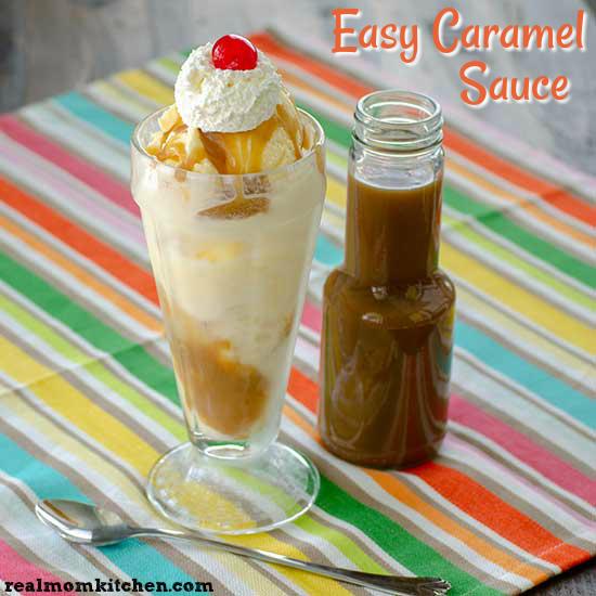 Easy Caramel Sauce   realmomkitchen.com