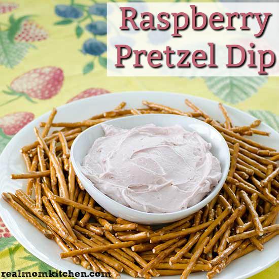 Raspberry Pretzel Dip   realmomkitchen.com