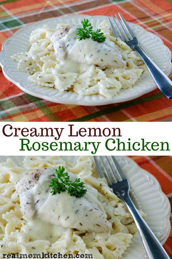 Creamy Lemon Rosemary Chicken | realmomkitchen.com