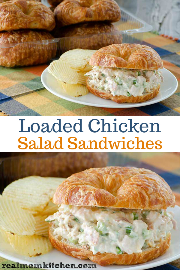 Loaded Chicken Salad Sandwiches | realmomkitchen.com