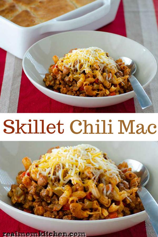 Skillet Chili Mac | realmomkitchen.com