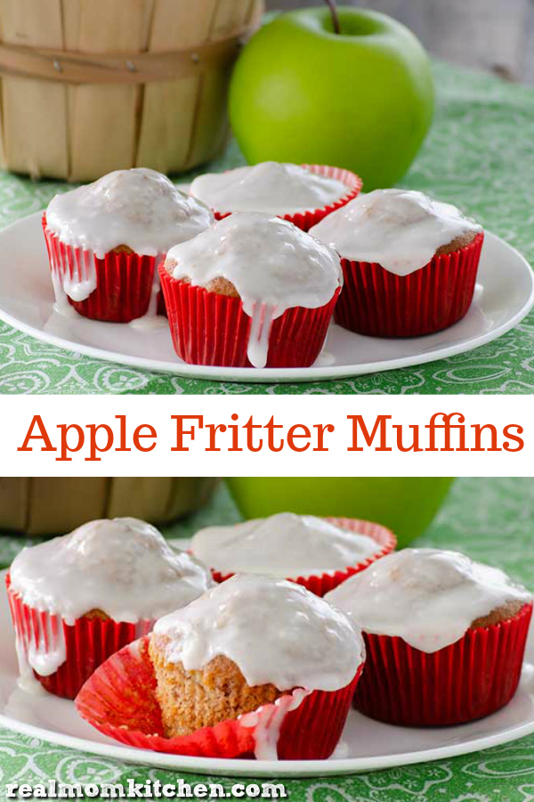 Apple Fritter Muffins   realmomkitchen.com