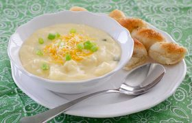 Cheesy Cauliflower Soup   realmomkitchen.co