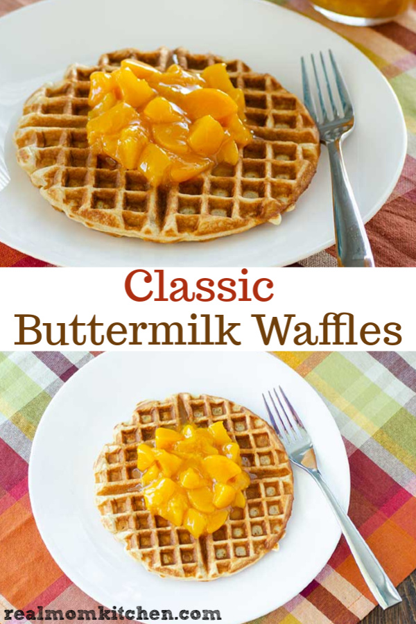 Classic Buttermilk Waffles | realmomkitchen.com