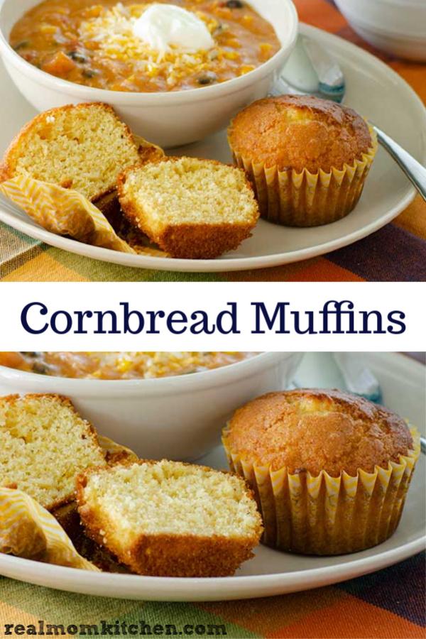 Cornbread Muffins | realmomkitchen.com