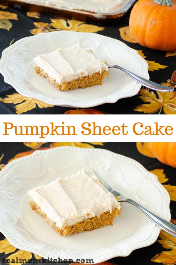 Pumpkin Sheet Cake   realmomkitchen.com
