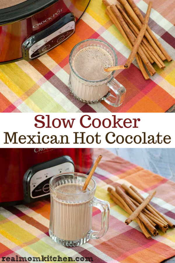 Slow Cooker Mexican Hot Chocolate | realmomkitchen.com