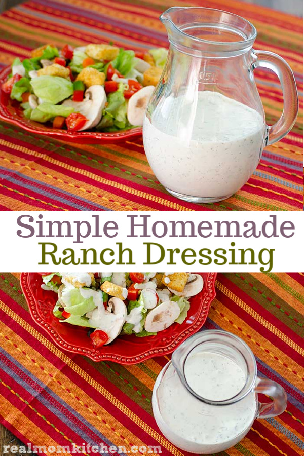Simple Homemade Ranch Dressing | realmomkitchen.com