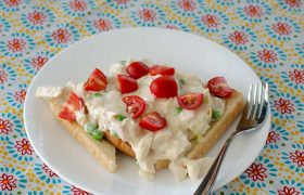 Creamy Open Faced Turkey Sandwich | realmomkitchen.co
