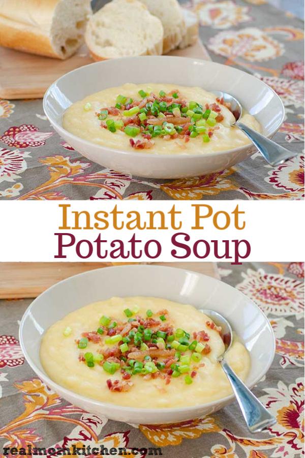 Instant Pot Potato Soup   realmomkitchen.com