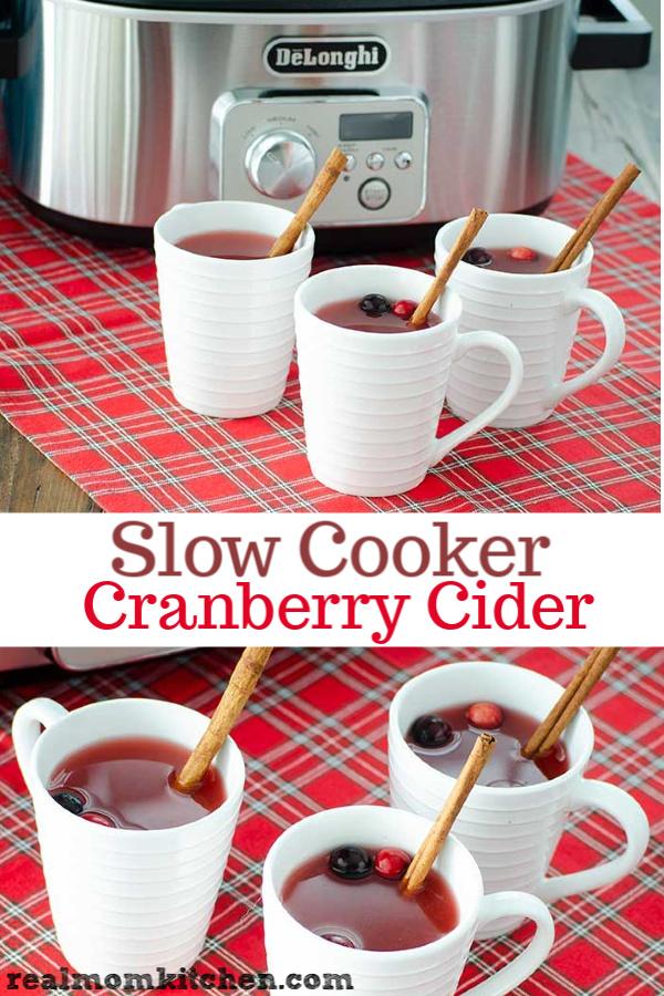 Slow Cooker Cranberry Cider | realmomkitchen.com