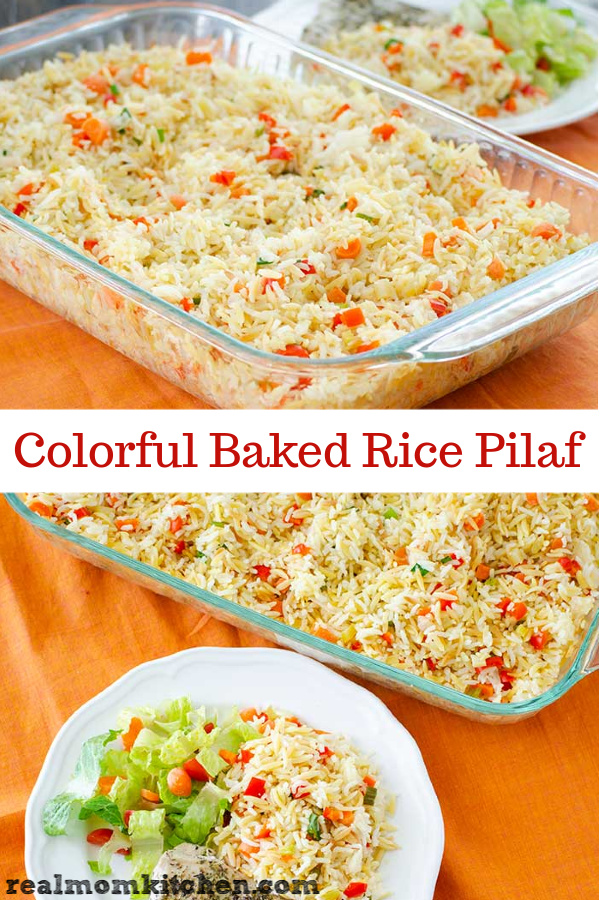 Colorful Baked Rice Pilaf | realmomkitchen.com