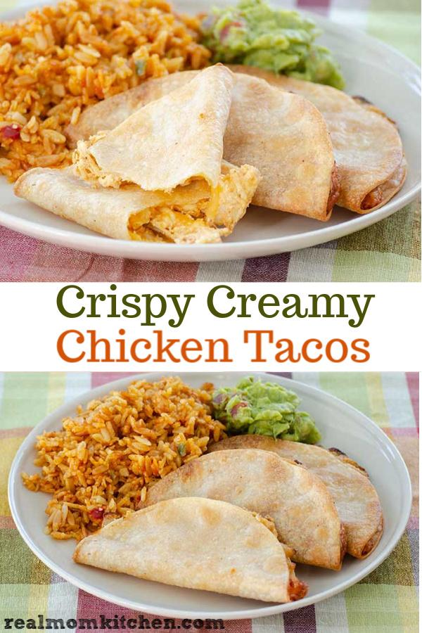 Crispy Creamy Chicken Tacos | realmomkitchen.com