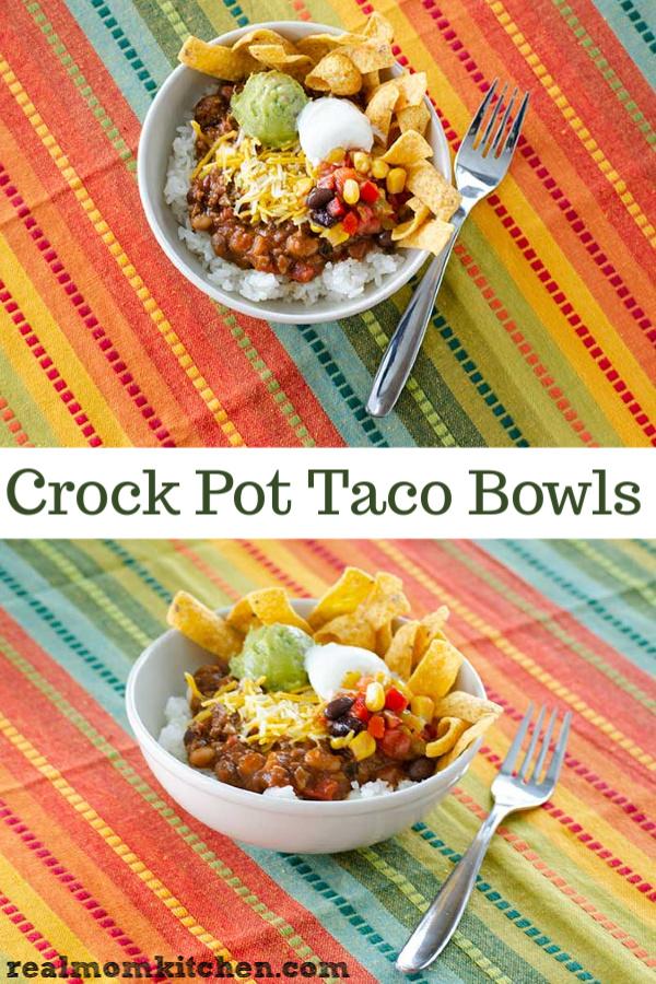 Crock Pot Taco Bowls | realmomkitchen.com