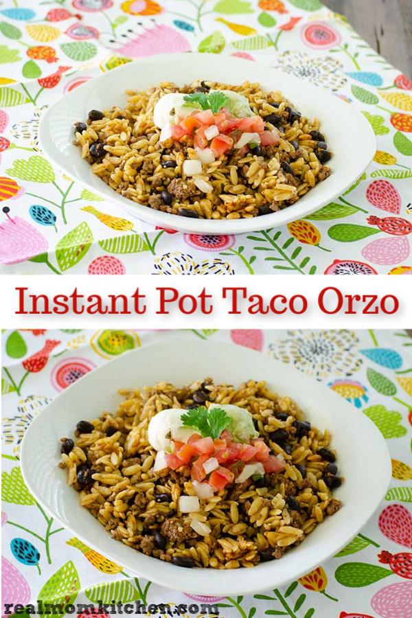 Instant Pot Taco Orzo | realmomkitchen.com