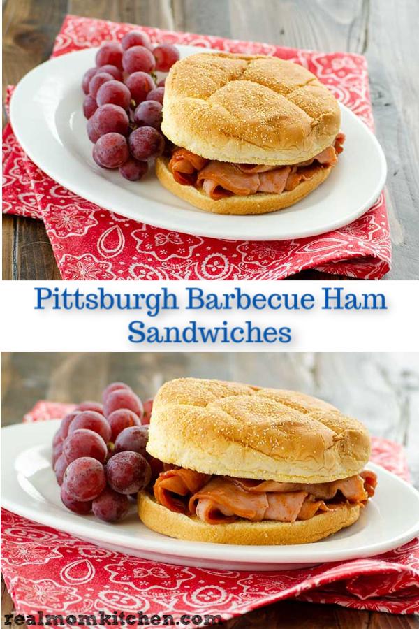 Pittsburgh Barbecue Ham Sandwiches | realmomkitchen.com