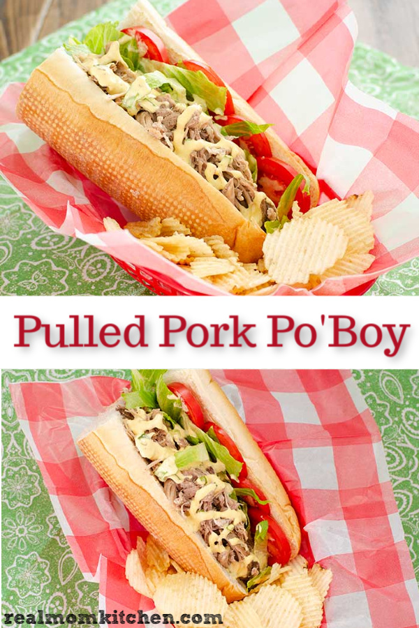 Pulled Pork Po'Boy | realmomkitchen.com