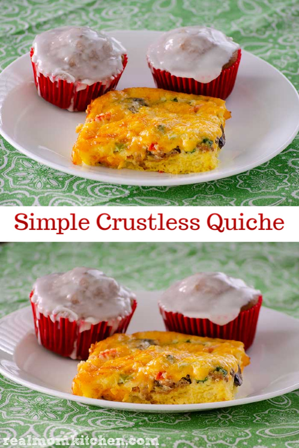 Simple Crustless Quiche | realmomkitchen.com