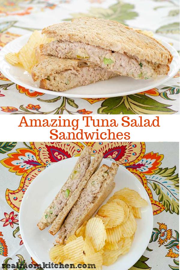 Amazing Tuna Salad Sandwiches | realmomkitchen.com