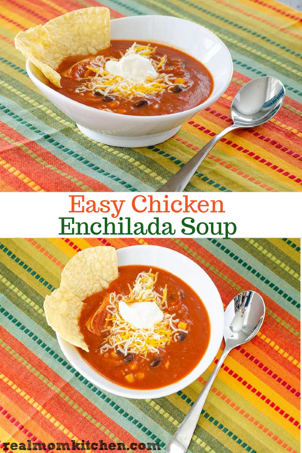 Easy Chicken Enchilada Soup | realmomkitchen.com