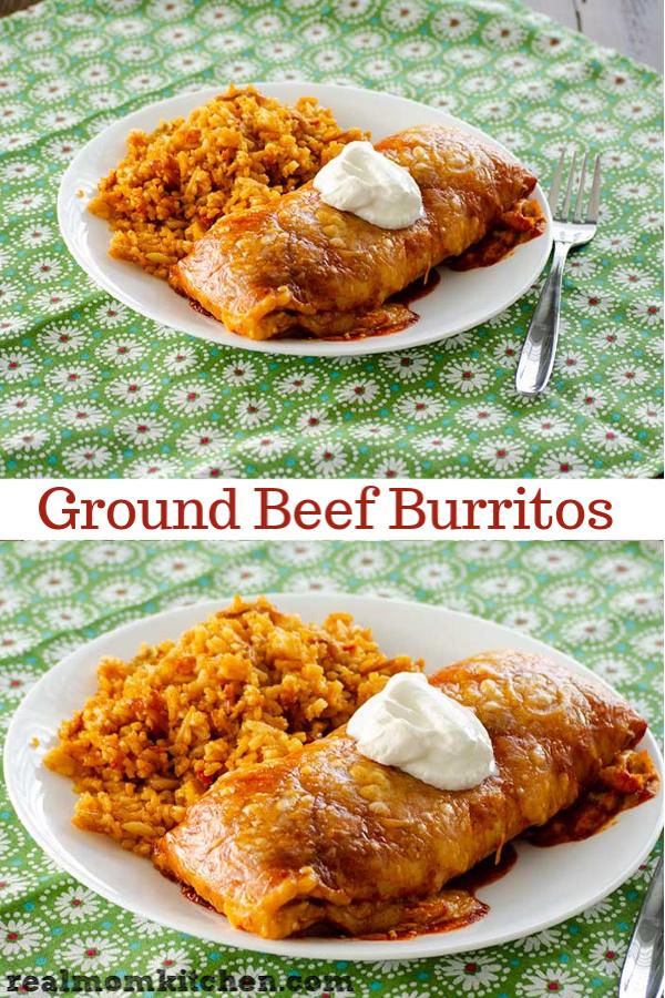 Ground Beef Burritos | realmomkitchen.com