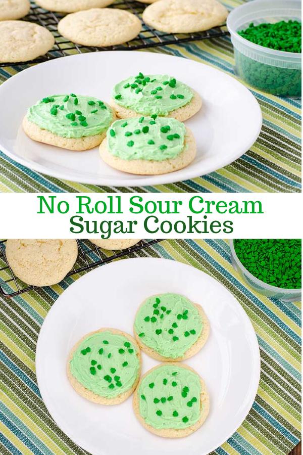No Roll Sour Cream Sugar Cookies | realmomkitchen.com