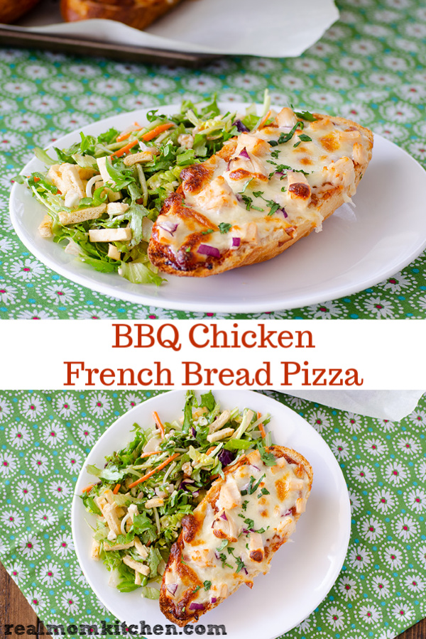BBQ Chicken French Bread Pizza | realmomkitchen.com