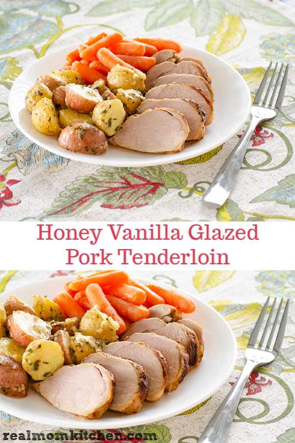Honey Vanilla Glazed Pork Tenderloin | realmomkitchen.com