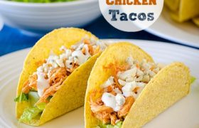 Buffalo Chicken Tacos | realmomkitchen.com