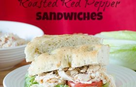 Chicken and Roasted Red Pepper Sandwiches | realmomkitchen.com