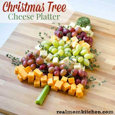Christmas Cheese Platter.Christmas Tree Cheese Platter