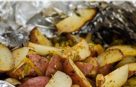 Grilled Potatoes and Peppers | realmomkitchen.com