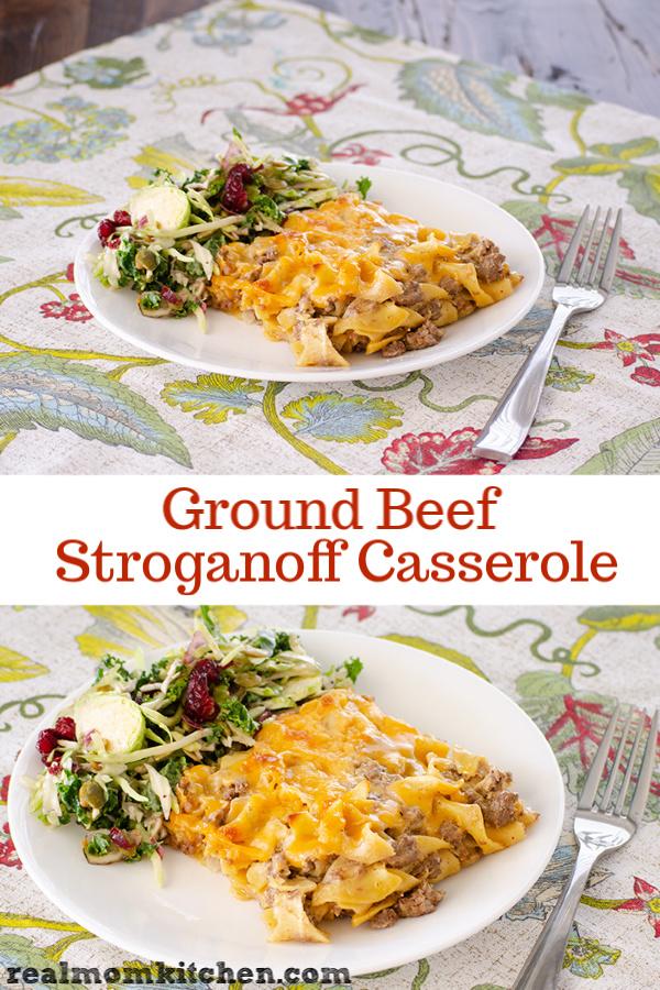 Ground Beef Stroganoff Casserole | realmomkitchen.com