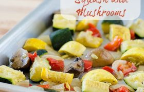 Oven Roasted Squash and Musrooms | realmomkitchen.com