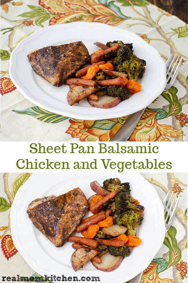 Sheet Pan Balsamic Chicken and Vegetables | realmomkitchen.co