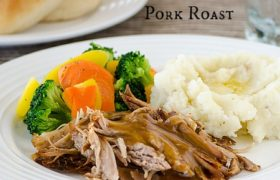 Slow Cooked Brown Sugar and Maple Pork Roast | realmomkitchen.com