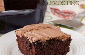 Sour Cream Chocolate Frosting   realmomkitchen.com