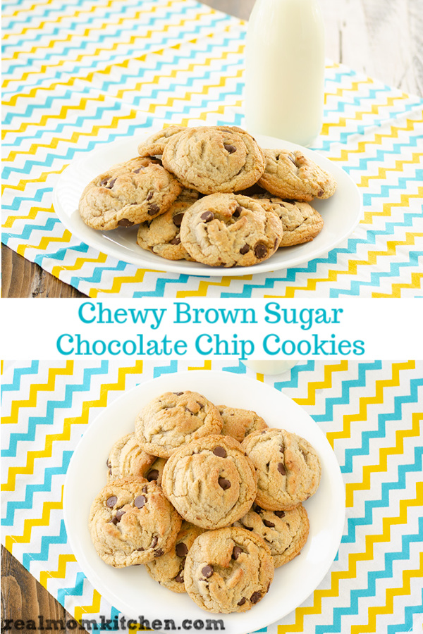 Chewy Brown Sugar Chocolate Chip Cookies | realmomkitchen.com