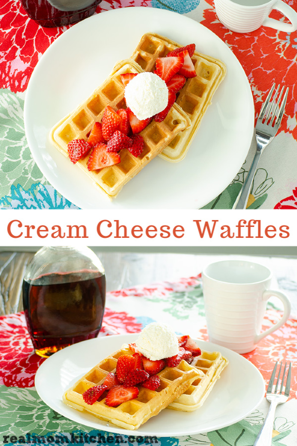 Cream Cheese Waffles | realmomkitchen.com