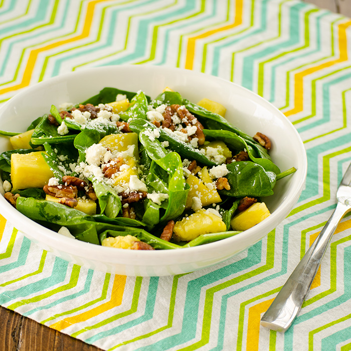 Pineapple Spinach Salad Real Mom Kitchen Salad