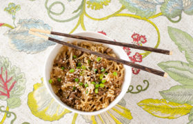 Quick Asian Beef Noodles | realmomkitchen.com