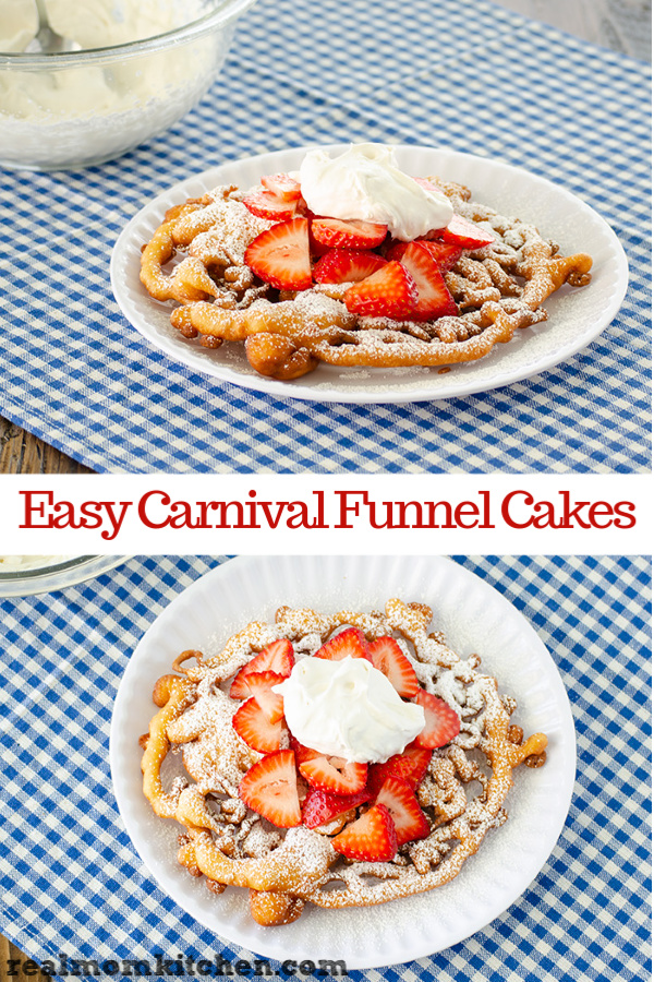 Easy Carnival Funnel Cakes | realmomkitchen.com
