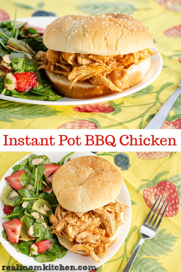 Instant Pot BBQ Chicken | realmomkitchen.com