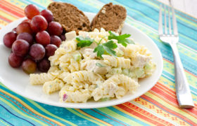 Savory Chicken Pasta Salad | realmomkitchen.co