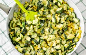 Parmesan Zucchini and Corn Saute | realmomkitchen.com