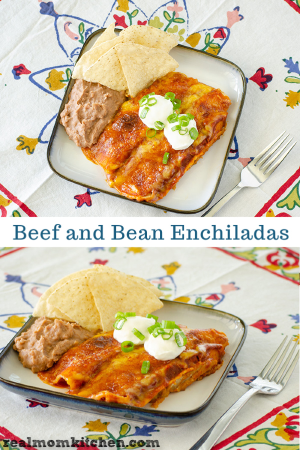 Beef and Bean Enchiladas | realmomkitchen.com